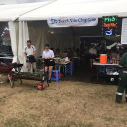 Pho Thanh Nien is now open at 2017 Hoi Cho Tet @ Fairfield Showground!! We're here all weekend!! Come and support our charity cause! What's on the menu you ask? We have: - Pho (Beef Noodle Soup) - Bun Dac Biet (Special Vermicelli Noodles) - Bun Bo La Lot (Vermecelli with Beef wrapped in Betel Leaves) - Bo La Lot (Beef wrapped in Betel leaves) - Hot Vit Lon (Duck eggs) - Nem Nuong (Pork balls on a stick) - Vietnamese Ice Coffee - Che Trai Cay (Fruit combination desert) Come and you won't be disappointed!!